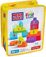 Mega Bloks Конструктор Мега блокс Учимся считать с цифрами 1-2-3 в сумочке