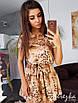 Легкое платье с рюшами на юбке  и поясом, фото 2