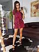 Легкое платье с рюшами на юбке  и поясом, фото 7