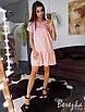 Легкое платье с рюшами на юбке  и поясом, фото 10