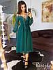 Платье миди с кружевом, на шнуровкой, фото 8