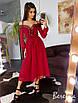 Платье миди с кружевом, на шнуровкой, фото 10