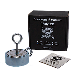Поисковый магнит F-300х2 Пират двухсторонний + ТРОС 🎁