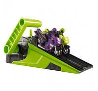 Hot Wheels Гонки мотоциклов Hyper Wheels Moto Racing Green and Purple