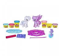 Play-Doh My Little Pony Пони Рарити и Твайлайт плей до пластилин  Princess Twilight Sparkle Rarity Fashion Fun