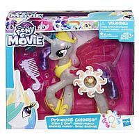My Little Pony the Movie glitter and glow princess celestia сверкающая и светящаяся принцесса Селестия 21см