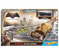 Hot Wheels Трек Спаси Готэм Сити серия Бэтмен против Супермена Batman DPL87 zip line launcher with batman figure