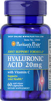 Гиалуроновая кислота 20 мг c витамином С (60 табл.) Puritan's Pride