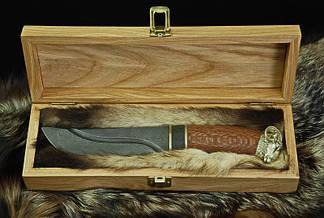 """Эксклюзивный нож ручной работы """"Ibex-1"""", дамасск, фото 3"""
