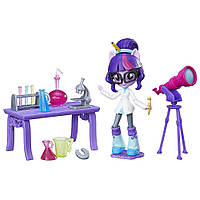 Май литл пони мини-кукла Девушки Эквестрии Твайлайт Спаркл и ее Лаборатория TWILIGHT SPARKLE Equestria Girls Minis Class Sets