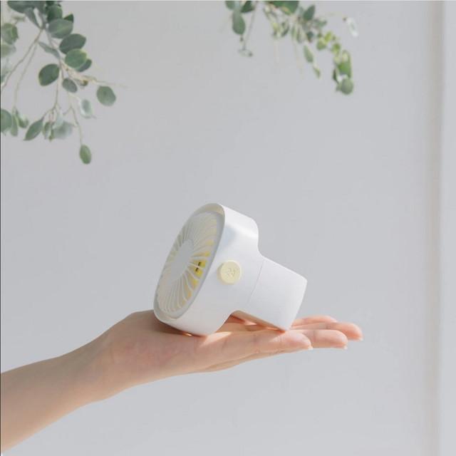 Портативный настольный вентилятор Xiaomi Mijia с перезаряжаемым встроенным аккумулятором Белый