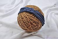 """Трикотажные повязки на голову, """"Косичка"""" синяя 42-54, фото 1"""