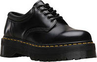 Женские туфли Dr. Martens 8053 Quad 5-Eye Oxford Black Polished Smooth Leather
