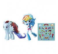 Набор блестящие кукла и пони Рейнбоу Дэш My Little Pony Rainbow Dash Toys
