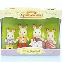 Семья хлопковых кроликов Sylvanian Families CHOCOLATE RABBIT FAMILY