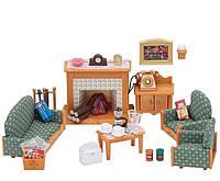 Гостинная с камином Calico Critters Deluxe Living Room Set