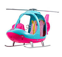Вертолет Барби Barbie Travel Pink and Blue Helicopter with Spinning Rotors