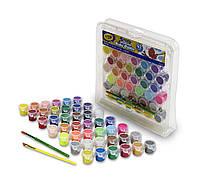 Легкосмываемые краски Крайола 42 цвета и две кисти Crayola Washable Paint