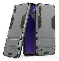 Бронированный противоударный чехол Stand для Samsung Galaxy M10 SM-M105F Grey