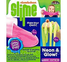 Слиз лизун слайм Cra-Z-Art Nickelodeon Slime Neon and Glow Slime Making Kit