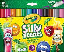Змиваються фломастери з запахом Crayola Silly Scents Washable Markers 12 шт
