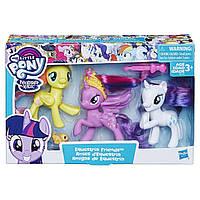 Набор из трех пони My Little Pony Toy Twilight Sparkle, Rarity & Fluttershy