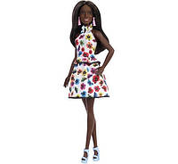 Барби Модница Barbie Fashionista Tall with Brunette Hair & Floral Dress
