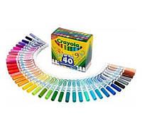 Толстые смывающиеся маркеры фломастеры 40 штук Crayola Ultra-Clean Washable