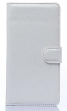 Кожаный чехол-книжка для Sony Xperia C4 белый