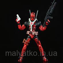 Реалистичная фигурка Дэдпула с набором аксессуаров  - Deadpool, Marvel, 15СМ