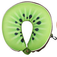 Подушка дорожная для шеи рогалик подушка зеленая киви для путешествий в Украине LSM