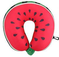 Подушка дорожная для шеи рогалик подушка красная для путешествий в Украине подушка в дорогу LSM