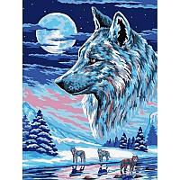 Картина по номерам Волки под луной 30Х40см Babylon VK213