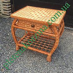 """Плетеный журнальный столик с шухлядой """"Краб"""" Арт.700"""