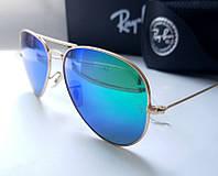 Брендовые очки Ray Ban 3025  Aviator large metal RB 112/19 -минеральное стекло