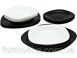 Сервиз Luminarc CARINE white&black /X19 предм