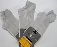 Мужские носки в сеточку очень короткие серого цвета