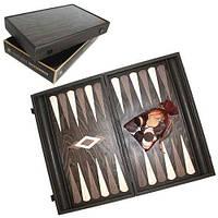 Нарды дуб с чёрным оттенком подарочные Manopoulos 550045 48х60 см деревянные