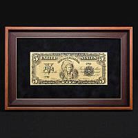 Банкнота подарочная в рамке 5$