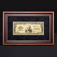 Подарочная банкнота в рамке 100000$