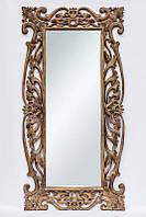 Зеркало на стену BST 530068 180*90 см коричневое Толедо