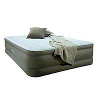 Двухспальная велюр кровать Intex 64474 с встроенным эл насосом 220В