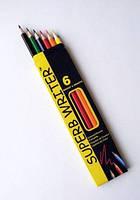 """Цветные карандаши """"Marco""""  SuperB Writer 6 цветов, ТМ Марко"""