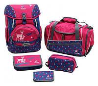 Рюкзак Deuter OneTwoSet - Sneaker Bag  с набором школьных принадлежностей (Розовый олень magenta deer)