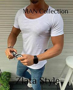 Мужская футболка однотонная Цвет белый, черный, графит.  Размеры S (44-46), M (48-50), L (52-54)