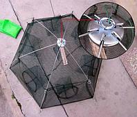 Раколовка зонтик, 6 входов, размеры 80 см,+чехол, метал,нить,