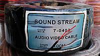 Кабель аудио-видео 2жильный, медный