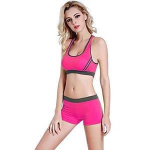 Спортивный костюм шортами Caroset 1098 розовый с серым