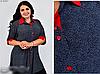Сорочка-туніка на гудзиках вільного фасону, з 52-68 розмір