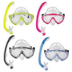 Набір для плавання підлітковий маска з трубкою Dolvor M171P+SN59P